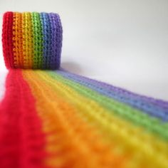 vegkat: Freshly made and just listed, it's the crochet super long rainbow scarf! Love Rainbow, Taste The Rainbow, Rainbow Art, Over The Rainbow, Rainbow Colors, Rainbow Roll, World Of Color, Color Of Life, All The Colors