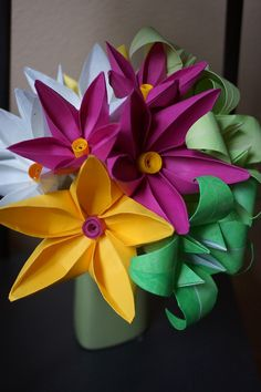 Click the photo to learn how to make these beautiful Jasmine Flowers!   Please go to My Bohemian Summer on YouTube and subscribe for more up coming video tutorials. Happy Folding!
