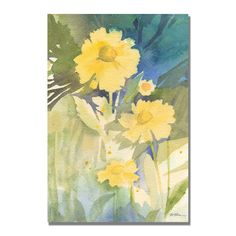 Trademark Fine Art Sheila Golden 'Sunshine Yellow' Canvas Art, Yellow