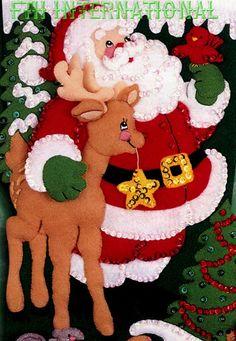 Bucilla Among The Animals 18 Felt Christmas Stocking Christmas Elf Doll, Christmas Wood, Christmas Projects, Kids Christmas, Handmade Christmas, Xmas, Felt Stocking Kit, Christmas Stocking Kits, Felt Christmas Stockings