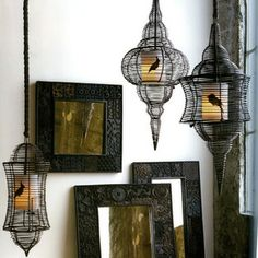 Roost Bird Cage Lamps