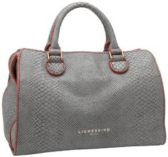 Liebeskind Berlin Lillesnake Shoulder Bag,Light Grey,One Size $345