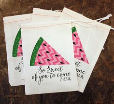 Summer BBQ Favor Bags Summer Party Treat Bag by ScrapendipityBags