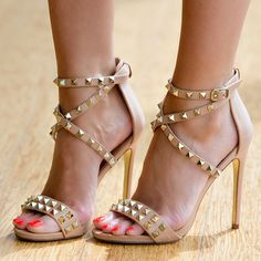 Luichiny Studded High Heeled Sandals Humor Me