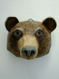 beautiful bear mask- what about eye holes, though?