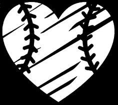 Destructed Baseball Heart SVG