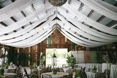 Photo Credit: Kaylynn Clark-- wow, what a wedding space....love the Upscale Barn
