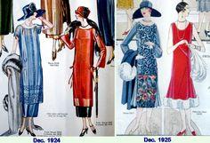 1920's era dresses