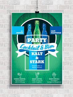 Fünf Vorlagen für Party-Flyer, -Poster und -Plakate, für heiße Cocktailpartys coole Barnächte.  #flyer #cocktail #vorlage #template #event #poster #design #print #plakat #party #geburtstag #einladung Microsoft Word, Indesign Templates, Print Layout, Photoshop, Poster Design, Party Flyer, Fitness, Pictures, Fine Dining