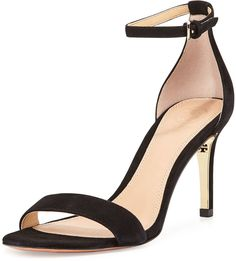 Tory Burch Keri Suede Ankle-Strap Sandal #Shoes #Fashion #Style