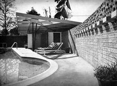 Goldstone garden. Bath house. Beverly Hills. USA. Garrett Eckbo. 1948.