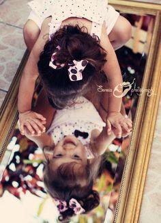 Fun Photography Prop: mirror! Kids love it!
