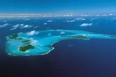 Aerial View of Tetiaroa (Tahiti)