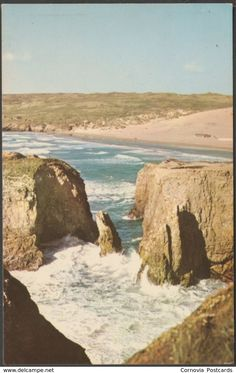 The Sands, Perranporth, Cornwall, c.1960s - Postcard
