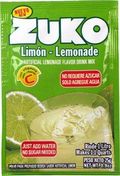Buy Zuko Lemonade Flavor Drink Mix Limonada at MexGrocer.com an online Mexican supermarket for Aguas Frescas. Refreshing Drinks, Cold Drinks, Beverages, Fresco, Horchata, Lemonade Drink, Sugar, Zuko, Aguas Frescas