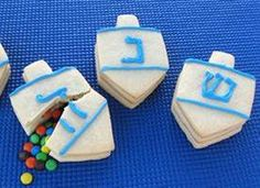 Dreidel Cookies Filled with Candy