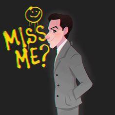 Did you miss me?? the one and only Jim Moriarty #art #art #sherlock #sherlockbbc #sherlockbbcfanart #fanart #bbcfanart #Bbc #moriarty #moriartyfanart #myart #myart #instaart #instaartist #illustration #girlsinanimation #glitter #ipadsketch ##artoferinlefler