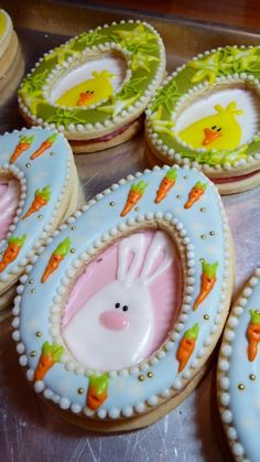 Cookievonster Easter cookies. **had to share these cookies with the cupcake lovers. So adorable!**