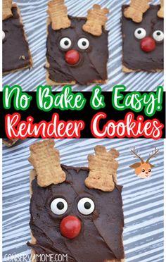 Christmas Baking Gifts, Easy Christmas Cookie Recipes, Holiday Baking, Christmas Treats, Xmas Gifts, Holiday Recipes, Christmas Time, Reindeer Cookies, Yummy Cookies