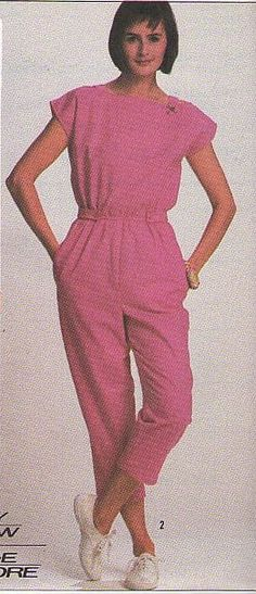 Pink Summer Romper Suit 1986