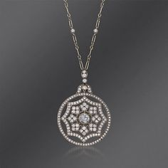 Kwiat 1.95 ct. t.w. Diamond Vintage Pendant Necklace in 18kt White Gold. 16