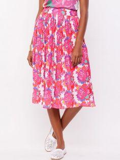 KOOVS Neon Waistband Printed Midi Skirt | midi skirt online india ...