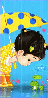 I will share my umbrella. Baby Memories, My Childhood Memories, Gifs, Adorable Petite Fille, I Love Rain, Umbrella Art, Animation, Kawaii Cute, Children's Book Illustration