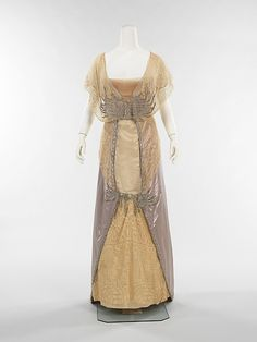 Evening dress Designer: House of Drécoll Date: 1913–14 Culture: French Medium: silk, rhinestones