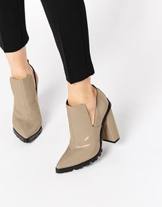ASOS EDGWARE Cut Out Ankle Boots