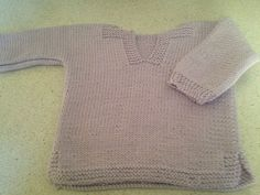 BABY 100% COTTON LIGHT PURPLE TOP HAND KNITTED  SIZE 6 MONTHS - NEW