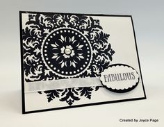 "♥ this card by Joyce Page, featuring the Stampin' Up! ""Medallion"" stamp - ♥♥♥ this stamp!"