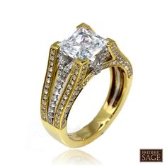 Frederic Sage #yellowgold #engagement #ring