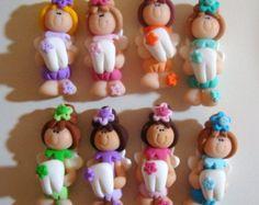 Flower Fairy Polymer Clay Charm Bead par RainbowDayHappy sur Etsy