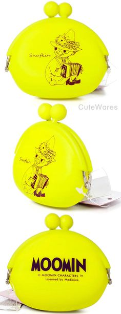Moomin Valley Snufkin Yellow Silicone Ball Clasp Frame Coins Wallet