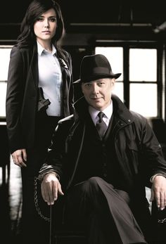 "The Blacklist - TV Série - Raymond ""Red"" Reddington ( James Spader ) - Elizabeth Keen ( Megan Boone ) - Liz - Lizzie - Red and Lizzie"