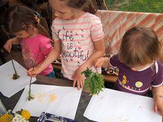 štetce zo záhrady - paintbrushes from the garden