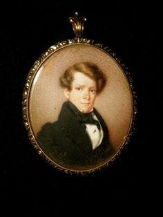 C. 1800 Antique English Portrait Miniature Painting