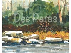 River at Cooks Forest.a Giclee print  *Dee Paras~Etsy.com