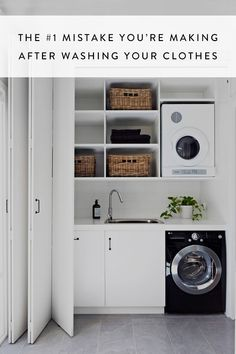 40 Small Laundry Room Ideas and Designs 2018 Laundry room decor Small laundry room organization Laundry closet ideas Laundry room storage Stackable washer dryer laundry room Small laundry room makeover A Budget Sink Load Clothes Laundry Cupboard, Laundry Nook, Laundry Room Remodel, Small Laundry Rooms, Laundry Room Storage, Laundry In Bathroom, Compact Laundry, Small Bathrooms, Hidden Laundry