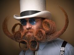 Crazy Facial Hair Fashion - 2016 National Beard and Moustache Championships Photos: Greg Anderson Photography