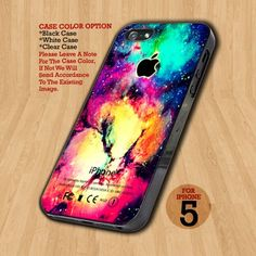 Colorful Galaxy Nebula - Design on Hard Case For iPhone 5 Case