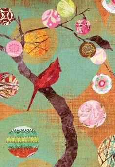Claire Robinson Graphic Design Illustration, Illustration Art, Collage Art Mixed Media, Cardinal Birds, Creative Journal, Art Techniques, Art Journaling, Cat Art, Art Forms