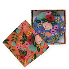 Gorgeous Floral Coaster set designed by Anna Bond for Rifle Paper Co.  Available now at Northlight Homestore