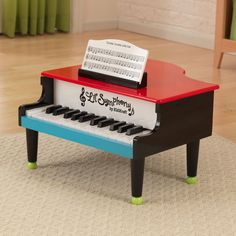 Encourage the littlest musician in your life to go for it with this KidKraft Lil' Symphony piano, which features 25 fully functional keys. Made from plastic and MDF, the piano stands up to frequent use.