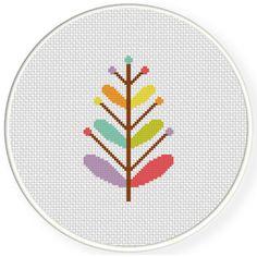 FREE for Dec 10th 2015 Only - Rainbow Foliage Cross Stitch Pattern