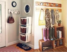 Brico on pinterest marie claire bijoux and entrees - Refaire son couloir d entree ...
