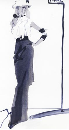 Fashion illustration David Downton.