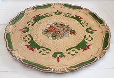 Large Florentine tray Beautiful shape with par LaMachineaBrocantes