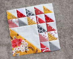 Aurifil 2014 Block of the Month block 2 designed by @Amy Gibson