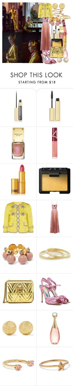 """""""So I close my eyes to old ends and open my heart to new beginnings"""" by brownish ❤ liked on Polyvore featuring Anja, Yves Saint Laurent, AERIN, Michael Kors, Wander Beauty, Lipstick Queen, NARS Cosmetics, Gucci, Marni and Carolina Bucci"""